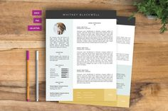 30 Sexy Resume Templates Guaranteed to Get You Hired Web Design, Layout Design, Graphic Design, Best Resume Template, Creative Resume Templates, Resume Ideas, Resume Cv, Resume Design, Cover Letter Template