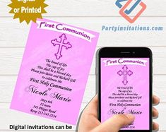 The perfect first communion party invitations for the by partyinvitationscom Teacher Retirement Parties, Retirement Party Invitations, Unique Invitations, Digital Invitations, First Communion Party, First Communion Invitations, Perfect Party, Happily Ever After, Give It To Me
