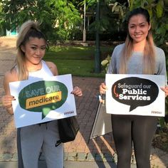 Young women in Cairns want their Public Services protected. Listen to them Entsch & Turnbull! #publicservices #betterfuture #proudtobeunion #leichhardt