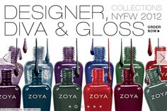 Zoya Nail Polish Fall 2012 Collections are here! NYFW 2012: Designer, Diva & Gloss - If it's in style this season, Zoya has it!