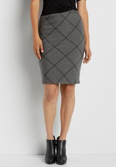 pencil skirt with diamond stitching (original price, $34.00) available at #Maurices