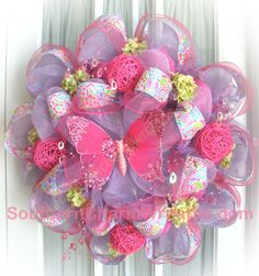 deco mesh ideas | Check out some of the wreaths I've made and sold on my website, www ...