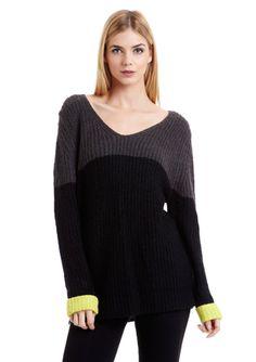 RD STYLE V-Neck Chunky Knit Sweater