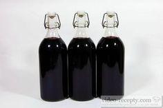 Recept Sirup z černého bezu - nejlepší láhve pro sterilaci Alcoholic Drinks, Beverages, Home Canning, Song Of Style, Keeping Healthy, Preserves, Lemonade, Red Wine, Smoothies