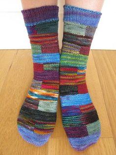 Ravelry: scj26's Block socks Knitting Stitches, Knitting Socks, Hand Knitting, Cute Socks, My Socks, Knitting Blocking, Leggings Funny, Extreme Knitting, Crazy Socks