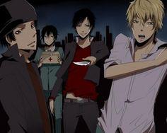 Kadota, Shinra, Izaya, Shizuo teen years