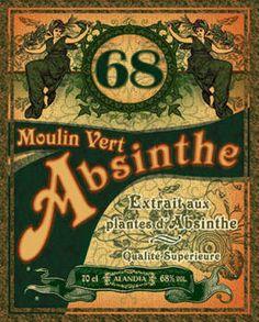 Moulin Vert Absinthe label