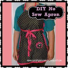 Sarah Lynn's Sweets: DIY No Sew Apron
