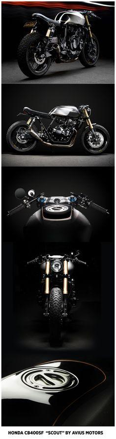 """HONDA CB400SF """"Scout"""" by Avius Motors"""