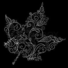 As a tattoo, but my ink would be red.  I like the abstract aspects of this, not just a plain old leaf, it's something more