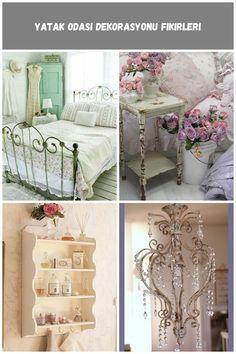 Yatak odasında #Vintage tarzı dormitorio Shabby Chic yatak odası dekorasyonu fikirleri