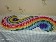 Crafts produto 08 março 2013 - Crochet Fios espiral limpa foto 2
