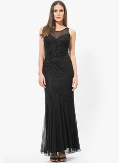 Buy black maxi dress online india