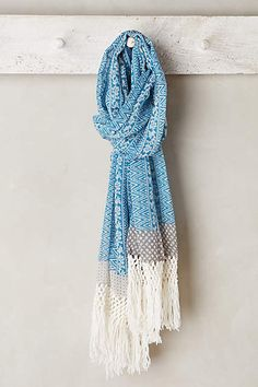 Macrame Fringe Scarf - #anthroregistry