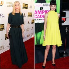 Cate Blanchett in Lanvin vs. Olga Kurlyenko in Christian Dior. Click through to vote!