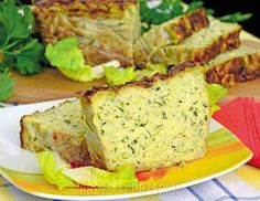 Pasztet z cukinii Vegetarian Recipes, Cooking Recipes, Healthy Recipes, Good Food, Yummy Food, Polish Recipes, Recipes From Heaven, Appetisers, Bread Baking