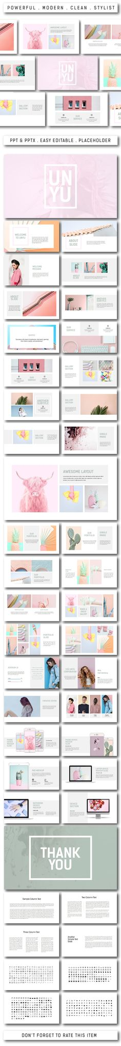 Unyu Multipurpose Powerpoint - #PowerPoint Templates #Presentation #Templates Download here: https://graphicriver.net/item/unyu-multipurpose-powerpoint/20432402?ref=alena994