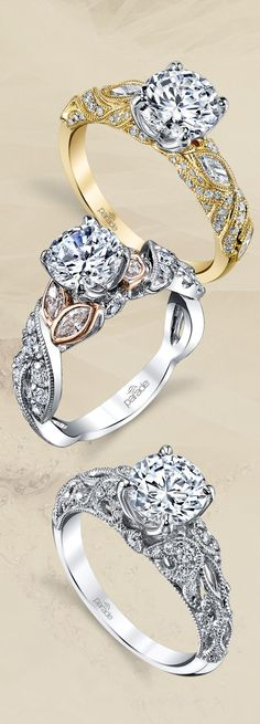 A modern take on vintage engagement rings!  New arrivals from Parade Design: R3493, R3567 & R3511