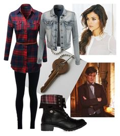 """Doctor Who/Tardis"" by ravenouswild on Polyvore featuring NIKE, LE3NO and Steve Madden"