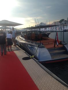 A stunning superyacht tender by the red carpet Cannes, Red Carpet, Fair Grounds, Train, Search, Searching, Strollers