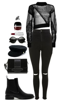 AllBlack by dalma-m on Polyvore featuring polyvore fashion style Helmut Lang Topshop CHARLES & KEITH John Brevard Manokhi ZeroUV Givenchy Marc Jacobs clothing