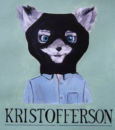 Fantastic Mr Fox print - Kristofferson