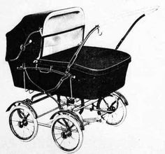 SVENSKTILLVERKADE BARNVAGNAR FRÅN 1960-T EMMALJUNGA 293  1967 visas den här i katalogen, men den har säkert funnits på marknaden några år.  Vävplast. Handtag i celluloid.