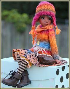 FALL COLORS SWEATER DRESS 8PC SET TALYSSA YANI MSD KAYE WIGGS DOLLS BY BARBARA #ClothingAccessories