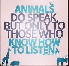 They do speak <3