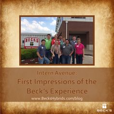 Intern Avenue with @Natalina Sents: First Impressions of the Beck's Experience