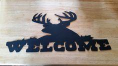 Metal Deer Welcome Sign. Hand Plasma Cut. by BoormansCreations