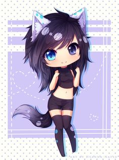 Chibi Indigo. A perfect coloration of her eyes! I was so surprised when I found this, it's almost spot on--though Indigo would never wear something so revealing.
