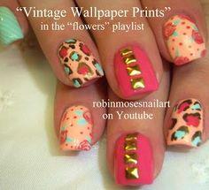 robin moses nail art | ... rocker chic wild and minty nail art nail art mint nail art vintage