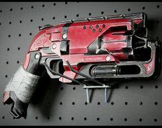 Custom Painted Nerf ZombieStrike Hammershot by RazorFireCreations Nerf Elite Guns, Modified Nerf Guns, Cool Nerf Guns, Nerf Mod, Steampunk Gun, Concept Weapons, Lego Design, War Machine, Custom Paint