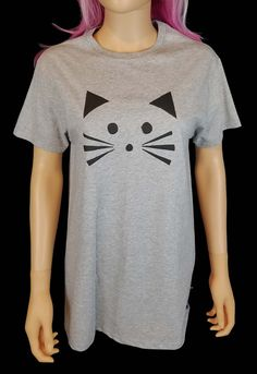 Painted Cat T Shirt / Pastel Goth Kitty Tee by SassysEdgyDesigns
