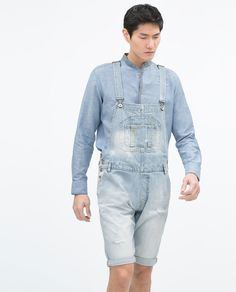ZARA - SALE - SHORT DENIM DUNGAREES