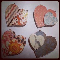 Wooden heart pendants by Forrest & Finch