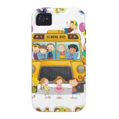 school bus and english word back to school case for the iPhone 4