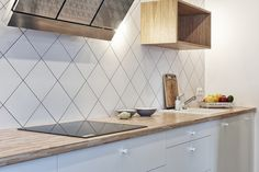 #kitchen | #wood #worktop Flat - Warszawa, Poland | TON a.s. - hancrafted for generations
