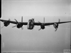 """hms-exeter:"""" Almost head-on view of Lancaster B Mark III, 'PG-H', of No. 619 Squadron RAF based at Coningsby, Lincolnshire, in flight over the North Sea. Raf Bases, Heavy Cruiser, Ww2 Aircraft, Royal Air Force, North Sea, Exeter, Lancaster, Objects, History Pics"""