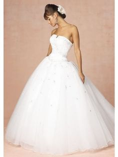 Wedding Dresses With Straps Lace Etsy Elegant Organza Ball Gown Princess Strapless Chapel Train
