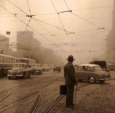 Chałubińskiego przy Al. Jerozolimskich 1966 r. Fot; .Jerzy Piasecki