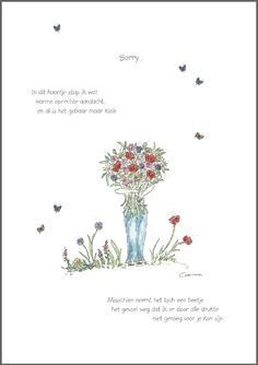 Corinne van Keeken Wenskaart 'Sorry' Sorry Quotes, Mom Quotes From Daughter, Friendship Quotes, Beautiful Words, Greeting Cards, Friends Forever, Horoscopes, Gifts, Frases