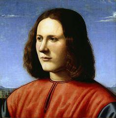 Piero di Cosimo - Portrait d'un J. Homme, 1500 Dulwich Picture Gallery