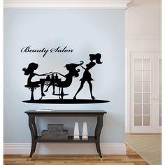 Beauty Salon Graceful Woman Silhouette Vinyl Wall Decal