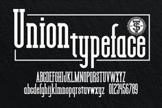 Union Fonts Union is a combination between sherif and tattoo style. its perfect for wedding theme design etc. by the-sastra