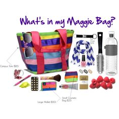 """""""What's in my bag?"""" Made with ♥ by Maggie Bags on #Polyvore #MaggieBags #handbags #purses #fashion #seatbelt"""