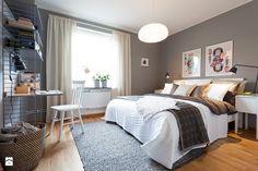 Scandinavian design bedroom two bedroom apartment style design Scandinavian Bedroom Decor, Blue Bedroom Decor, Bedroom Decor For Couples, Modern Bedroom Decor, Small Room Bedroom, Design Bedroom, Stylish Bedroom, Scandinavian Interior, Teen Bedroom