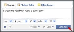 5 Things You Must Know about Scheduling Facebook Posts Finding the time to post frequently and consistently to your Facebook Page may be difficult— but it's necessary if you want to keep fans engaged and thinking about your practice. If you're crunched for time and looking... http://www.mednet-tech.com/newsletter/social-networking/5-things-you-must-know-about-scheduling-facebook-posts