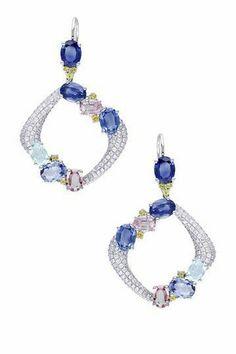 925 sterling silver earrings dangle party statement handmade blue beautiful new #NIKIGems #DropDangle